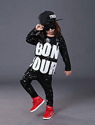 Jazz Kid's Cotton Sequin 3 Pieces Half Sleeve Tops Pants Hats