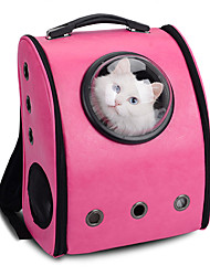 cheap -Cat Dog Carrier & Travel Backpack Astronaut Capsule Carrier Pet Carrier Portable Breathable Solid Yellow Coffee Rose Blushing Pink