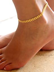 Недорогие -Ножной браслет - В форме листа Мода Золотой / Серебряный Назначение Повседневные Жен.