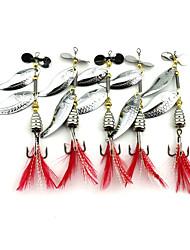5 pcs Metal Bait Spinner Baits Spoons Metal Bait Buzzbait & Spinnerbait Spoons Random Colors Blue g/Ounce mm inch,MetalSea Fishing Fly