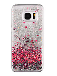 For Samsung Galaxy S8 Plus S8 Phone Case Heart Pattern Flowing Quicksand Liquid Glitter Plastic PC Materia S7 edge S7