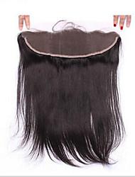 7a seda reta brasileira humana 13x2 seda com renda completa fecho frontal ouvido a orelha