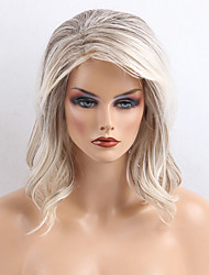 cheap -Popular  Attractive  Greyish White Curls Long Human Hair Wigs