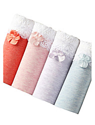 cheap -4 Pcs/Lot Women's Sexy Seamless Panties Lace-up Cotton Underwear