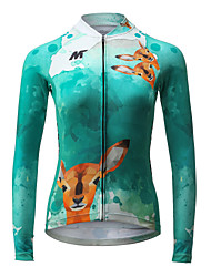cheap -Mysenlan Cycling Jersey Women's Long Sleeves Bike Jersey Top Quick Dry Breathable Polyester Fashion Spring Summer Fall/Autumn Cycling/Bike