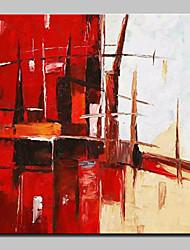 abordables -Peinture à l'huile Hang-peint Peint à la main - Abstrait Abstrait / Moderne / Contemporain Inclure cadre intérieur
