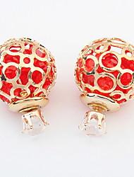 Dámské Peckové náušnice Visací náušnice Náušnice - Kruhy imitace drahokamu přátelství Cute Style Štras Slitina Circle Shape Šperky Pro