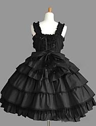cheap -Gothic Lolita Dress Princess Punk Lace Women's Girls' JSK / Jumper Skirt Cosplay Cap Sleeveless Short / Mini