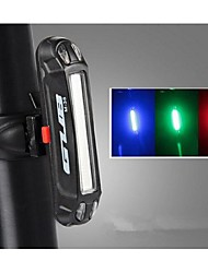cheap -Rear Bike Light / Safety Light / Tail Light LED LED Cycling Outdoor, Water Resistant, LED Light USB / Lithium Battery 100 lm USB Color-changing / Red / Blue Cycling / Bike