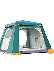 economico -CAMEL 3-4 persone Tenda Doppio Tenda da campeggio Una camera Tende da campeggio formato famiglia per Campeggio Viaggi CM