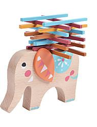 abordables -Blocs de Construction Jeux d'Empilage Jouets Eléphant Equilibre Bois Enfant Pièces