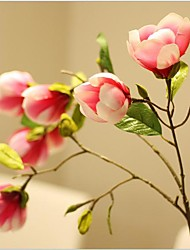 cheap -33inch Large Size 1 Branch 7 Heads Silk Magnolia Artificial Flowers