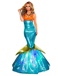cheap -Princess Mermaid Tail Fairytale Cosplay Costumes Party Costume Female Halloween Carnival Festival / Holiday Halloween Costumes Blue