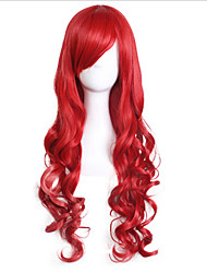 Cosplay Wigs Long Curly Red With Bang Costume Capless Wig Halloween Cosplay Wigs