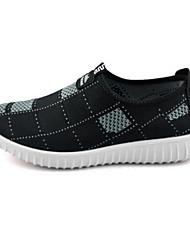 cheap -Women's Sneakers Walking Comfort Fabric Spring Summer Casual Outdoor Split Joint Flat Heel Black Gray Blue 1in-1 3/4in
