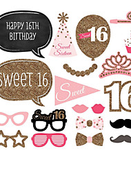 Birthday Sweet 16 Birthday Party Hard Card Paper Wedding Decorations