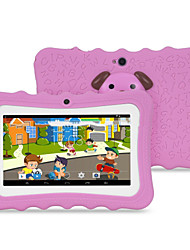 cheap -M711 7 inch Android 4.4.2 Quad Core 1024*600 TFT Screen 512M/4G 2500mah Kid Tablet Pink