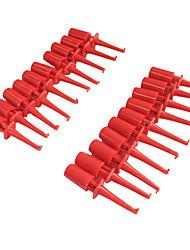 economico -Grabbers di clip del gancio di prova del multimetro di plastica per pc smd ic (20pcs)