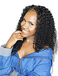 cheap -Popular Hairstyle Small Curly  Lace Wig 360 Cap Style 150% Density Human Virgin Hair Black Color Wig with Baby Hair For Black Women