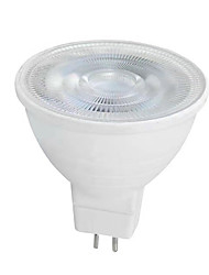 cheap -6W GU10 GU5.3(MR16) LED Spotlight MR16 SMD 2835 650 lm Warm White White K AC 220-240 V