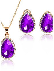 cheap -Women's Jewelry Set Pendant Necklaces Bridal Jewelry Sets AAA Cubic Zirconia Classic Fashion Adorable Euramerican Wedding Party Special