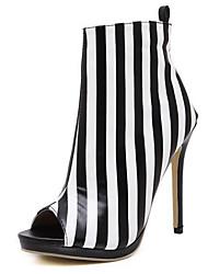 Femme Chaussures à Talons Similicuir Eté Automne Fermeture Talon Aiguille Blanc 10 à 12 cm