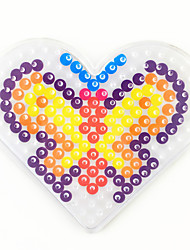 1PCS 5MM Fuse Beads Clear Template Pegboard Stencil Loving Heart Butterfly Hama Perler Beads Pegboard Kid DIY Education Craft Toy Random Color Card