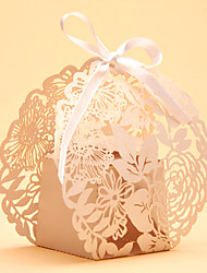 cheap -50pcs Laser Cut Lace Flower Wedding Favor Box Candy Box  Wedding Party Supplies