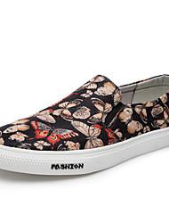 Men's Loafers & Slip-Ons Comfort Fabric Spring Fall Casual Walking Flat Heel Screen Color Flat