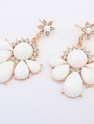 Femme Boucles d'oreille goutte Original Pétal Cœur Fleur Mode Personnalisé euroaméricains Simple Style Résine AlliageForme de Coeur Forme