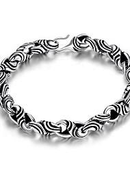 economico -Per uomo Bracciali a catena e maglie Gioielli Vintage Argento placcato Di forma geometrica Gioielli Per 1 pacco