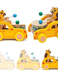 Недорогие -Ролевые игры Каталки для малышей Игрушки Ударная установка Барабанная установка Животные Натуральное дерево Для детей Куски