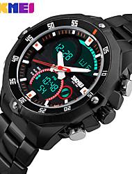 Homme Montre Habillée Smart Watch Montre Tendance Montre Bracelet Chinois Numérique Calendrier Chronographe Double Fuseaux Horaires