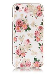 billiga -EFORCASE fodral Till iPhone 5 / Apple IMD / Mönster Skal Blomma Mjukt TPU för iPhone SE / 5s / iPhone 5