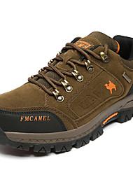 abordables -Hombre Zapatillas de Atletismo Confort Ante Primavera Otoño Deportivo Senderismo Confort Tacón Plano Caqui Plano