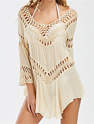 cheap -Women's Boho Cover-Up - Solid Colored