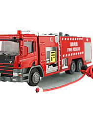 cheap -KDW Toy Cars Pull Back Vehicles Train Farm Vehicle Fire Engine Vehicle Toys Train Car Fire Engines Metal Alloy Pieces Unisex Gift