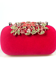 cheap -Women Bags Other Leather Type Velvet Evening Bag Rhinestone Floral for Wedding Birthday Event/Party Business Casual Stage Formal Date