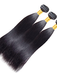 cheap -Indian Hair Yaki Remy Human Hair Natural Color Hair Weaves 3 Bundles 10-20 inch Human Hair Weaves Dark Black Human Hair Extensions
