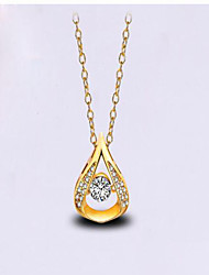 May Polly   Natural quartz water Pendant Necklace