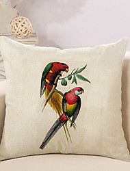 1 Pcs High Quality Simple Parrot Pillow Cover Personality Square Sofa Cushion Cover Pillowcase