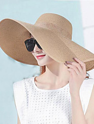 cheap -Women's Holiday Sun Hat - Solid Colored Pure Color