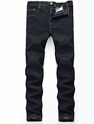 cheap -Men's Plus Size Cotton Skinny Slim Jeans Pants - Solid Colored