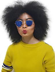 preiswerte -Damen Synthetische Perücken Kappenlos Mittel Lockig Schwarz Natürliche Perücke Kostüm Perücken