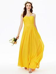 Платье для спагетти из шеи / колонки длиной до пола, шифонное платье для невесты с накладками от lan ting bride®
