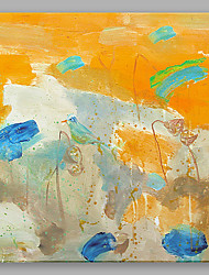 IARTS Oil Painting Modern Abstract A Bird Stopped in A Yellow Lotus Pond Art Acrylic Canvas Wall Art For Home Decoration