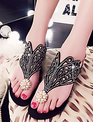 Women's Shoes PU Summer Comfort Light Soles Sandals For Casual Black Purple Blushing Pink