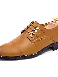 Herren Schuhe PU Sommer Komfort Outdoor Walking Schnürsenkel Für Normal Weiß Schwarz Gelb