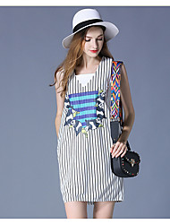 cheap -Women's Tank Top - Striped Dress
