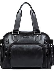 Men Bags All Seasons Cowhide Tote Smooth for Business Casual Formal Office & Career School Date Work Black
